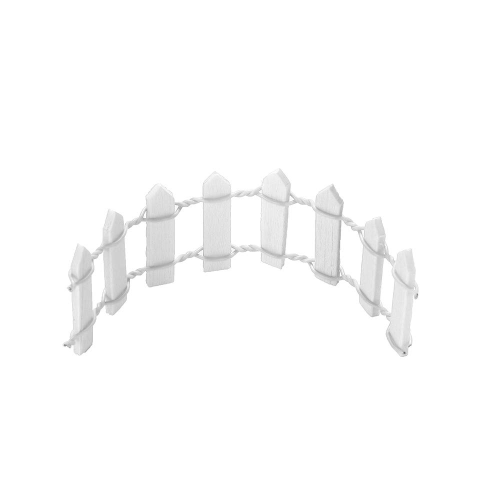 Makeupstore 2pc Miniature Wood Fence Palisade Garden Home Decoration,Picket Fence,Garden Fence Mini DIY Craft Micro. (White)