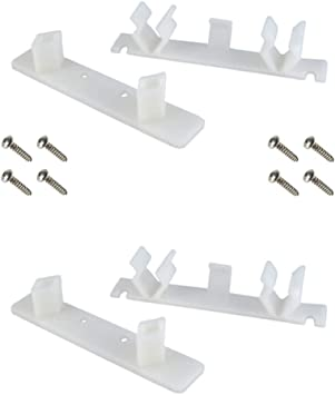 Tenn-Tex False Front Cabinet Drawer Repair Clips 4 count-8 peices
