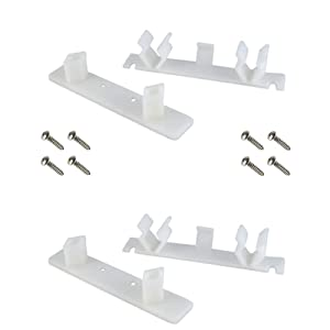 """False Front Cabinet Clips (Set of 2) with Screws & Instructions - Tenn-Tex False Front Clips / False Drawer Clips (4 1/4"""" Opening)"""