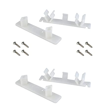 False Front Cabinet Clips (Set of 2) with Screws & Instructions - Tenn-Tex  False Front Clips / False Drawer Clips (4 1/4