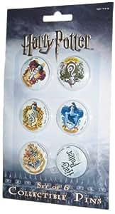 "Harry Potter  ""Half Blood Prince"" Crest Pin Set of 6"