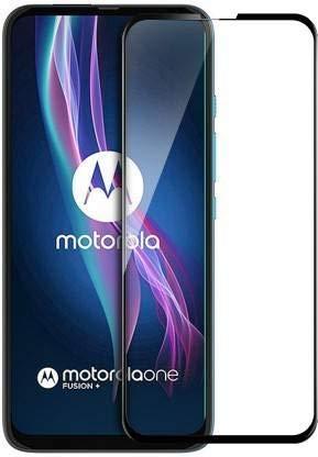 S Hardline Premium Edge to Edge Ful Glue Tempered Glass for Motorola Moto One Fusion Plus  Black
