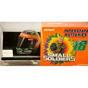 Interstate Batteries 1998 - Action - NASCAR - Bobby Labonte #18 Small Soldiers - 1/4 Scale Racing Helmet - 1 of 7000 - with Display Case - Limited Edition - Collectible