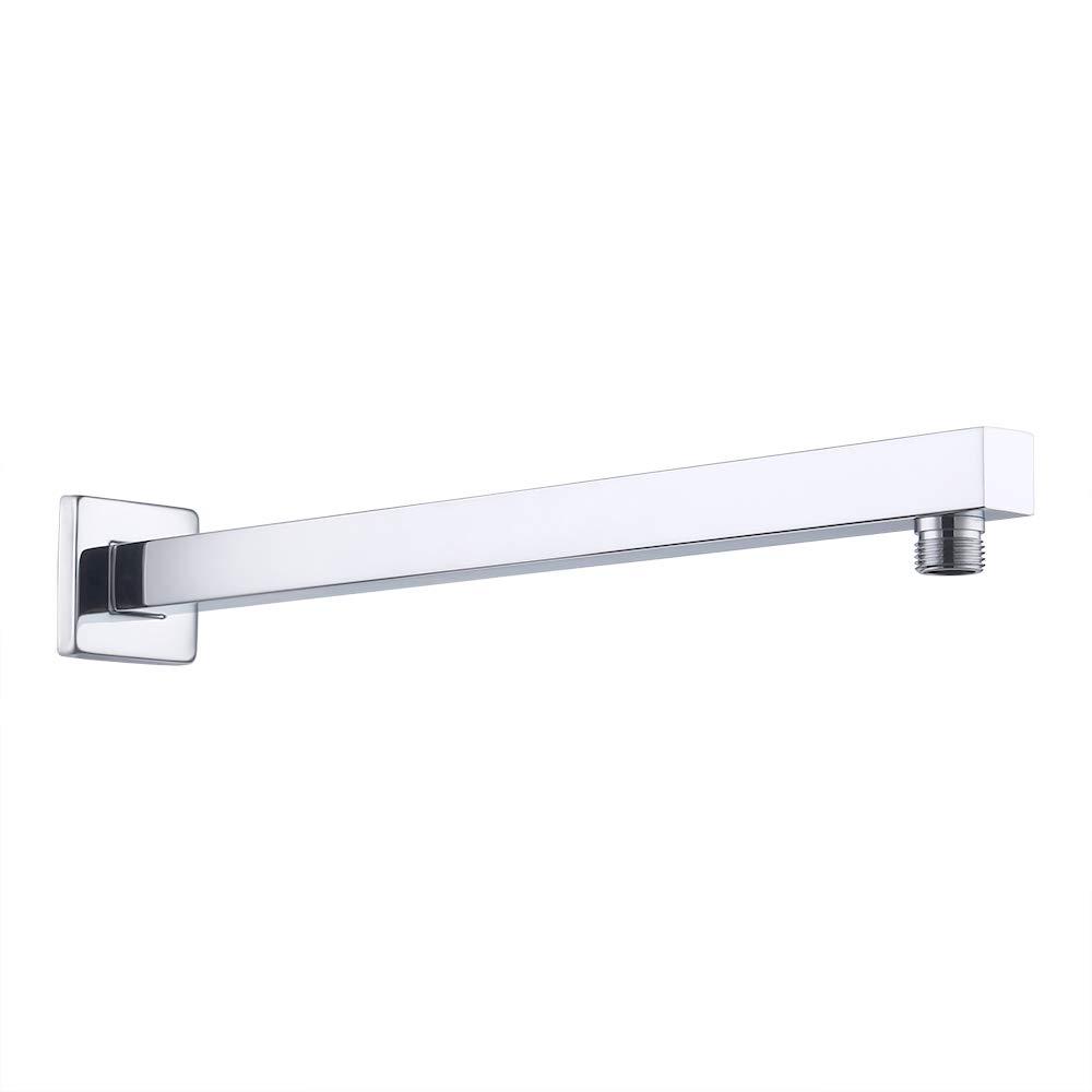 PSAN4-BK KES 16-Inch Shower Head Extension Extender Rainfall Shower Arm with Flange Stainless Steel Matt Black