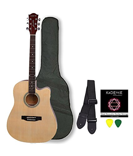 Kadence Frontier Series Acoustic Guitar (With Equalizer Jumbo 41 inch), Natural