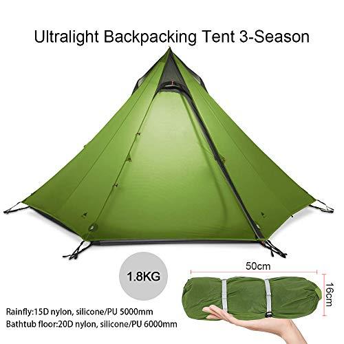 KIKILIVE ultraleichtes Campingzelt Neues LanShan für den Außenbereich,1Person / 2 Personen/ 3 Personen Zeltunterstand…