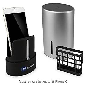 BoxWave FreshStart Samsung Galaxy S6 Edge UV Germicidal Sanitizer - Portable Phone Cleaner Works With Smartphones, MP3 Players, Earbuds, Headsets and More! (Silver)