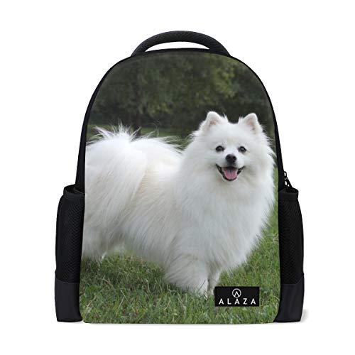 Backpack Cute Pet American Eskimo Dog Womens Laptop Backpacks School Hiking Travel Daypack]()