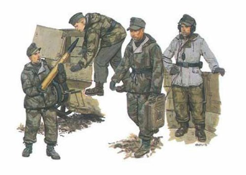 - 6016 1/35 German Self-Propelled Gun Crew (4)