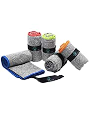 """Acteon Microfiber Gym Towels - Quick Dry Workout Towel - Fights Odors - Compact Sports Towel for Workout, Travel, Camping - Ultra Lightweight Sweat Towel - 5-Pack Heather Gray - 30""""x16"""""""