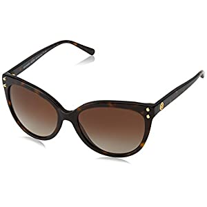 Michael Kors Women's Jan MK2045 55mm Dark Tortoise Acetate/Brown Gradient Sunglasses