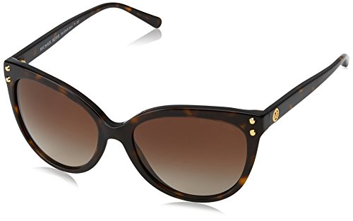 Michael Kors Women's Jan MK2045 55mm Dark Tortoise Acetate/Brown Gradient Sunglasses (Michael Sunglasses Kors)