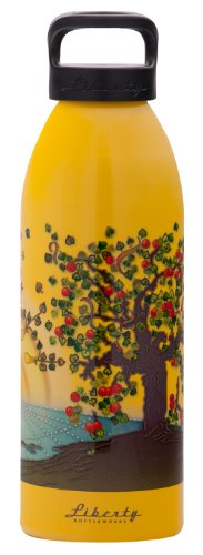 Liberty Bottleworks Essence Aluminum Water Bottle, Made in USA, 24oz, Saffron, Standard Cap (Saffron Mug)