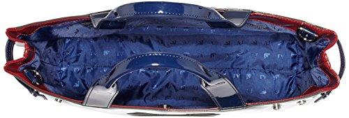 Armani 095208_922548 - Bolso asa de mano Mujer Antracita / Granate / Azul