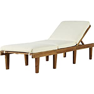 Natural finish ardsley durable acacia wood for Acacia wood chaise lounge