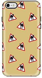 Stylizedd Apple iPhone 6Plus Premium Dual Layer Tough Case Cover Gloss Finish - Camel Signs