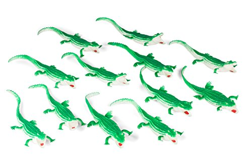 "Jumbo Extra Large 10"" Vinyl Toy Alligator Toy Figures For Kids 1 Dozen Alligator Crocodile Toy Action Figures"