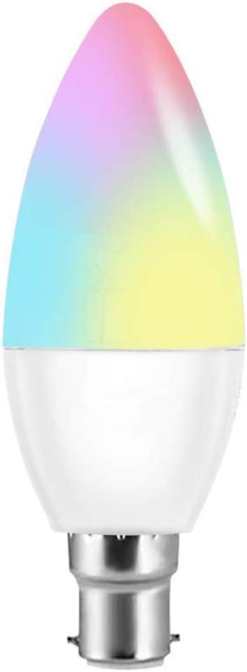 la Chambre /à Coucher GCDN Ampoule Intelligente E14//E12//E27//2 5 W 6 W WiFi pour la Maison 1pc la Cuisine Le Salon E141pc e12 /à intensit/é Variable contr/ôl/ée par Smartphone