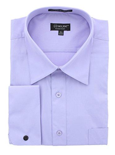 Milani Standard Fit Dress Shirt With French Cuffs 16.5