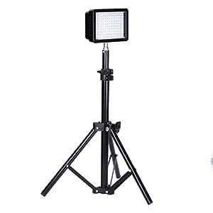 """Bestlight® Fotografía 160 LED Kit de iluminación de estudio, incluye (1) Ultra Alta Potencia 160 LED Vídeo Luz Panel Digital Cámara réflex digital Videocámara LED Luz de vídeo (1) Fotografía Mini soporte de Luz de altura de 32 """"/ 80cm"""