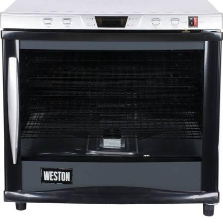 Weston Pro Series Digital Dehydrator 28-0301-W, 80 Liter 12 Tray with Timer & Light