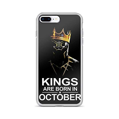 iPhone 7 Plus/8 Plus Pure Anti Shock Case Cover Kings are Born in October Black-Panther -