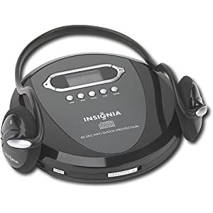 5c0248f8294 Insignia NS-P4112 Portable CD Player with Skip Protection for CD, CD-R