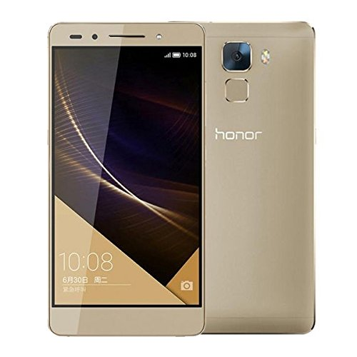 Huawei Honor 7 / PLK-AL10 Unlocked Android 4G LTE Smartphone 5.2 inch Hisilicon Kirin 935 Octa Core 3GB RAM + 64GB ROM FDD-LTE & WCDMA & GSM (Gold)