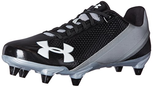 Under Armour Men's Speed Phantom Low D, Black/Metallic Silver, 9.5 D(M) US
