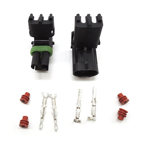 Weather Pack 5 sets Kit 2 Pin Way Waterproof Electrical Wire automotive Connector Plug Ogry