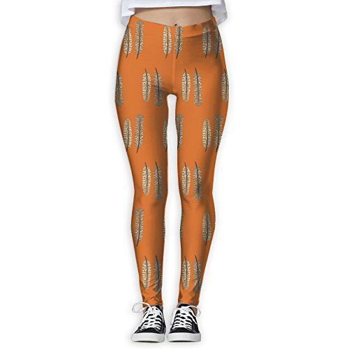 - ZGZGZ Women's Thanksgiving Day Feather Turkey Printed Yoga Pants Workout Capris Lightweight Yoga Leggings