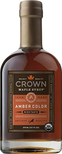 Crown Maple Organic Grade A Maple Syrup, Amber, 12.7 Ounce