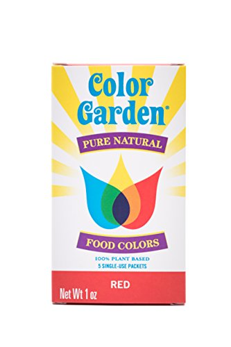 Color Garden Pure Natural Food Colors, Red 5 ct