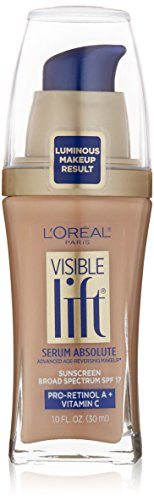 L'Oréal Paris Visible Lift Serum Absolute Foundation, Creamy Natural, 1 Ounce