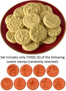 Amazon.com: JBK Pottery Cookie Stamp Set - Christmas: Kitchen & Dining