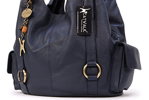 Blue Catwalk Big Bag Leather Shoulder Collection Navy Alex zZqnB01xwZ