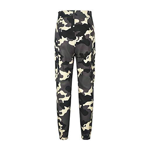 Kaki Sport Camouflage Chic Femme Militaire Casual Camouflage Mode Haut Taille Pantalons Pants SANFASHION Bonne Florale Imprim lphant Jogging Qualit pFwTXSq