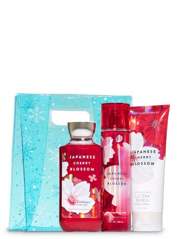 Bath & Body Works Japanese Cherry Blossom Snowflakes Bag Gif