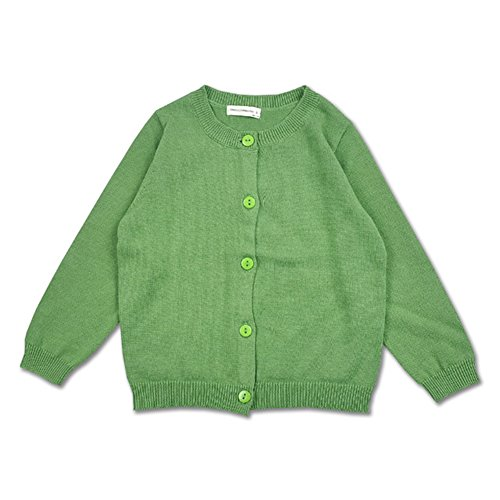 XUNYU Baby Girls Cardigan Sweaters Button Down Candy Color Toddler Spring Coat Knits Outerwear 1-5T (Cardigan Candy)