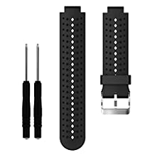 Kobwa Soft Silicone Sport Style Replacement Smart Watch Band Strap With Pin Removal Tools For Garmin Forerunner 220/230/235/620/630/735
