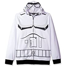 Star Wars mens standard Storm Trooper Character Zip Front Hoodie