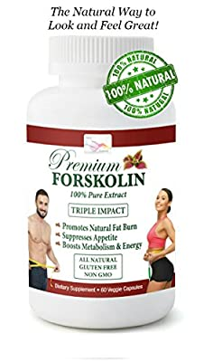 Max Strength 20% Pure Forskolin 60 capsules + FREE Cooling Towel – Pure Natural Weight Loss Diet Pill Testosterone & Metabolism Boost - Weight Control - Appetite Suppressor - Carb & Fat Blocker – Safe