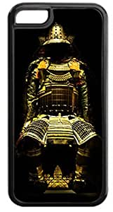 Samurai- Case for the APPLE IPHONE 5, 5s-Hard Black Plastic Outer Case with Tough Black Rubber Lining