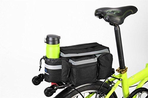 TopSun Roswheel Rear Seat Trunk Bag Handbag Bag Pannier for Bicycle Black by TOPSUN (Image #1)