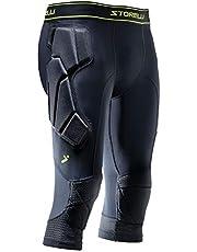 Storelli BodyShield 3/4 Goalkeeper Leggings | 3/4 Length Padded Soccer Pants | Enhanced Lower Body Protection |