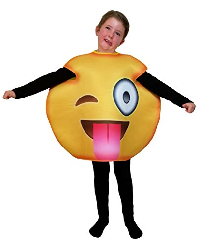 Favorite Emoticon Emoji Costumes for Boys and Girls (Child, Tongue Wink)