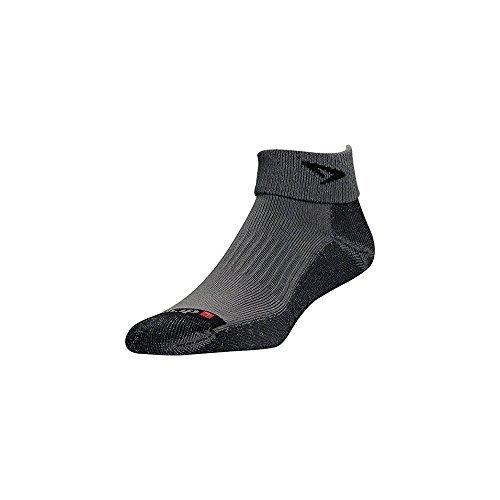 Drymax Lite Trail Run 1/4 Crew / Turndown Socks Gray / Black M 2-Pack