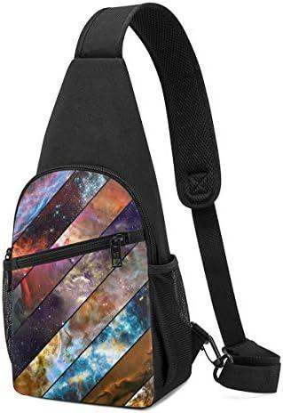 ボディ肩掛け 斜め掛け スプライスの星空 ショルダーバッグ ワンショルダーバッグ メンズ 軽量 大容量 多機能レジャーバックパック
