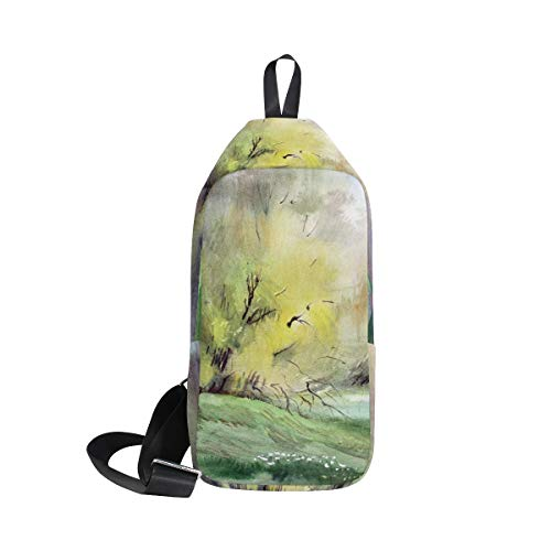 Shoulder Art Bags Women Sling Watercolor Tree Bennigiry Backpack One Crossbody Chest Painting Men Bag amp; For BR8qgxw