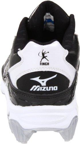Mizuno Womens 9-spike Finch 5 Tacchetta Softball Nero / Bianco